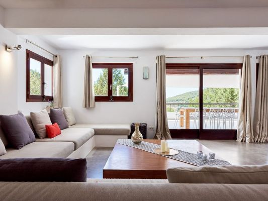 Lounge photo - Casa Kiva: 6 bedroom child friendly luxury villa with infinity pool in Es Cubells, Ibiza