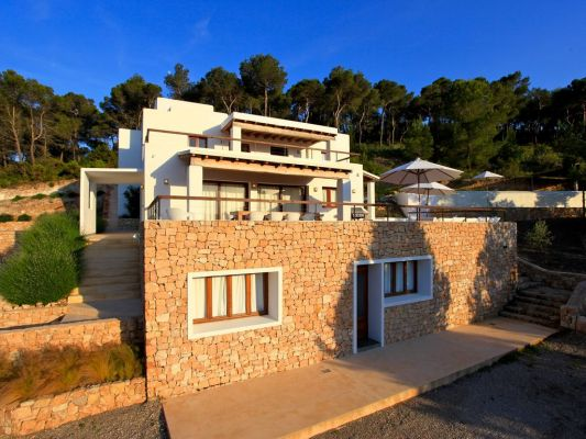 Exterior photo - Casa Kiva: 6 bedroom child friendly luxury villa with infinity pool in Es Cubells, Ibiza
