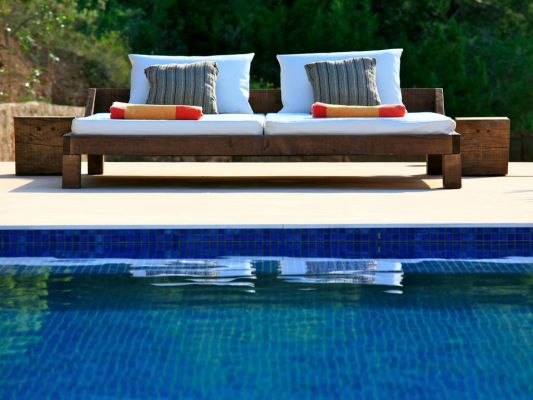 Sunlounger photo - Casa Kiva: 6 bedroom child friendly luxury villa with infinity pool in Es Cubells, Ibiza