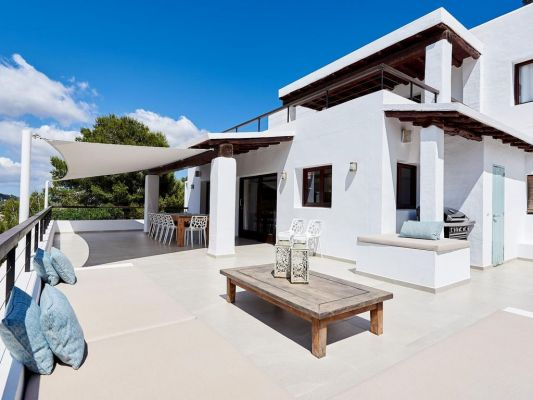Terrace area photo - Casa Kiva: 6 bedroom child friendly luxury villa with infinity pool in Es Cubells, Ibiza