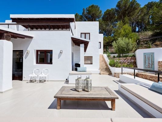 Outside area photo - Casa Kiva: 6 bedroom child friendly luxury villa with infinity pool in Es Cubells, Ibiza