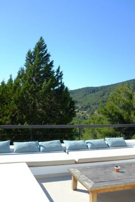 Terrace seating photo - Casa Kiva: 6 bedroom child friendly luxury villa with infinity pool in Es Cubells, Ibiza