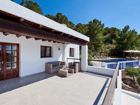 Terrace photo - Casa Kiva: 6 bedroom child friendly luxury villa with infinity pool in Es Cubells, Ibiza
